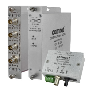 ComNet FV: Video with Simplex Contact Closure, 1, 2 or 4 Channels