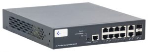 barox BA-RY-LGSP23-10G Ethernet Switch, 10 Ports: 8 x 10/100/1000 Electrical & 2 x 10/100/1000 Combo, PoE+, Managed