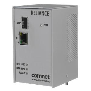 ComNet CNFE100: Ethernet Media Converter, 10/100/1000Mbps SFP, PoE++ (up to 60W), Substation-Rated